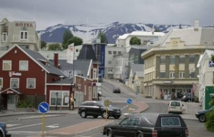 Sögusvið Fjarverunnar: Akureyri